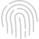 detective, interface, identification, evidence, Fingerprint Silver icon