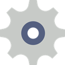 Gear, settings, cogwheel, Tools And Utensils, configuration Silver icon