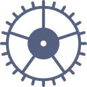 settings, configuration, cogwheel, Tools And Utensils, Gear DimGray icon