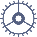 cogwheel, Gear, configuration, Tools And Utensils, settings DimGray icon