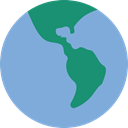 worldwide, Maps And Flags, global, Planet Earth, Geography CornflowerBlue icon