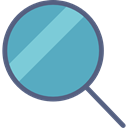 magnifying glass, Tools And Utensils, search, detective, zoom, Loupe CadetBlue icon