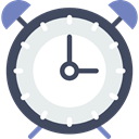 Tools And Utensils, alarm clock, time, timer, Clock Lavender icon