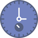 interface, stopwatch, Chronometer, Tools And Utensils, Wait, timer, time LightSlateGray icon