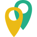 map pointer, pin, placeholder, signs, Map Location, Map Point, Placeholders Goldenrod icon