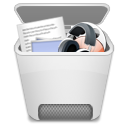 recycle, Bin, Full Gainsboro icon