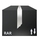 File, nanosuit, Rar, Black DarkSlateGray icon