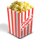 popcorn, nano, simple Black icon