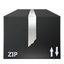 Zip, File, nanosuit, Black DarkSlateGray icon