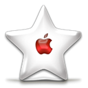 red, Apple, sparkle, fav, nanosuit Black icon