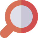 magnifying glass, detective, Loupe, Tools And Utensils, search, zoom IndianRed icon