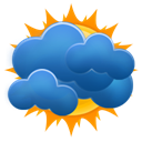 sun, Cloudy, weezle, most SteelBlue icon