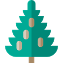 Tree, nature, spruce, Botanical, ecology Teal icon