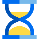 Clock, waiting, time, Hourglass, Tools And Utensils DodgerBlue icon