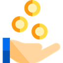 Business, investment, Hand Gesture, Bank, Money, savings, commerce, Currency Black icon