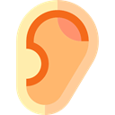 Body Parts, Ear, Anatomy, medical LightSalmon icon