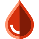 Blood, transfusion, medical, donation, Blood Drop, Health Care Firebrick icon
