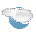 Cloudy, period CadetBlue icon