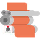 Factory, technology, machine Coral icon