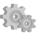 gears, Gear, cogwheel, settings, Tools And Utensils, Cogwheels, configuration DarkGray icon