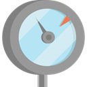 temperature, danger, Measurement, Gauge, Manometer, indicator, Tools And Utensils DarkGray icon