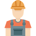 Builder, profession, Occupation, job, Avatar, Man, worker, people Black icon