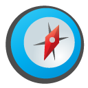 childish, compass DeepSkyBlue icon