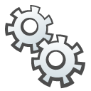 childish, gears DarkSlateGray icon