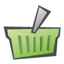 Basket, childish, shopping DarkKhaki icon