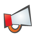 megaphone, childish DarkSlateGray icon