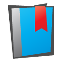 bookmark, childish DeepSkyBlue icon