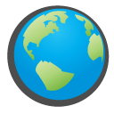 childish, globe DeepSkyBlue icon