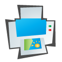 printer, childish DeepSkyBlue icon