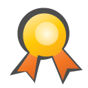 childish, medal DarkSlateGray icon