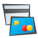 Cards, credit, childish DeepSkyBlue icon