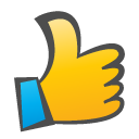 thumb, thumb up, childish, Up DarkSlateGray icon
