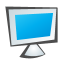 monitor, childish DeepSkyBlue icon