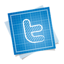 Social, Blueprint Black icon