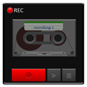 recorder, Detailed Black icon