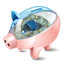 piggy, Bank Black icon