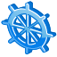 Steering, wheel DodgerBlue icon