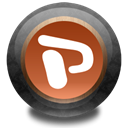 ppt, Color, wood Black icon