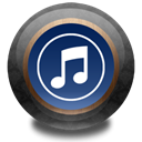 itunes, Color, wood MidnightBlue icon