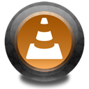 Vlc, wood, Color Black icon