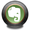 Evernote, wood, Color Black icon