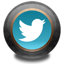twitter, wood, Color Black icon