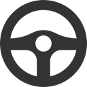 wheel, Steering DarkSlateGray icon