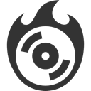Cd, Burn DarkSlateGray icon