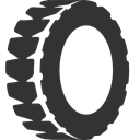 Tire DarkSlateGray icon
