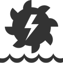 Hydroelectric DarkSlateGray icon